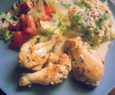 Kurczak w ziołach z ogródka